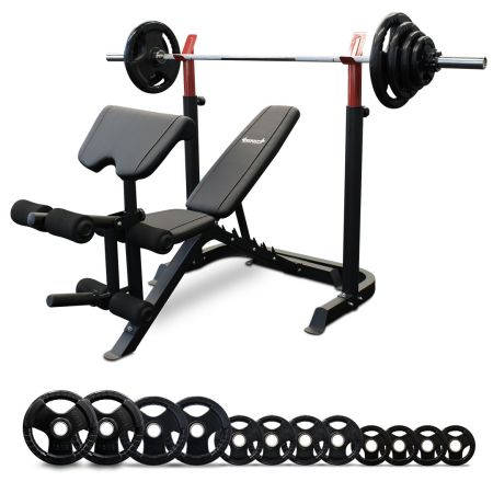Impact BP7 Bench Press + 100kg Olympic 7ft Barbell Set