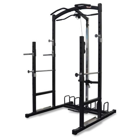 Squat Half Rack with Lat Pulldown & Row Pulley