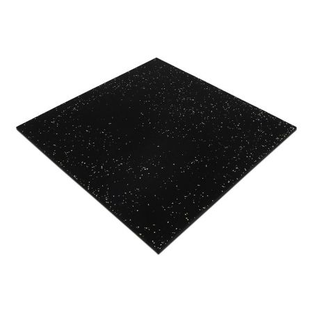 Rubber Gym Tiles Black with White Fleck Commercial Flooring