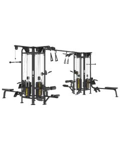 Reeplex Commercial Pin Loaded 8 Station Jungle Gym