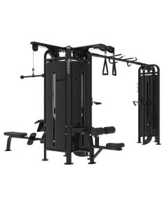 Reeplex Commercial 5 Station Jungle Gym with 150kg Weight Stacks