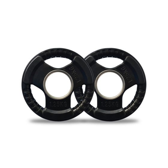 1.25kg Olympic Rubber Weight Plates Pair