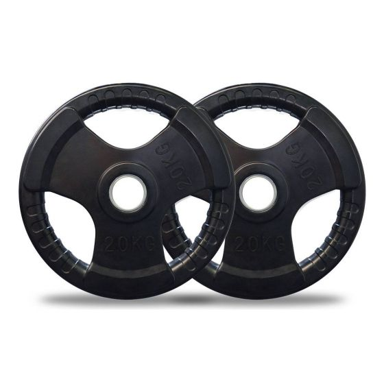 20kg Olympic Rubber Weight Plates Pair