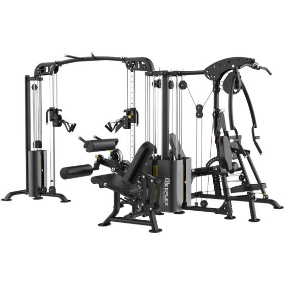 Reeplex Commercial 5 Station Multi-Gym with Leg Press