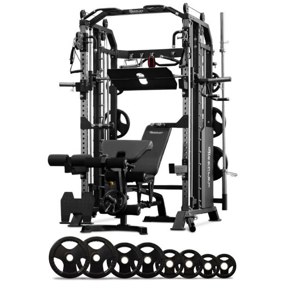 Reeplex CX2 Multi-Trainer + Bench + 100kg Olympic Weights