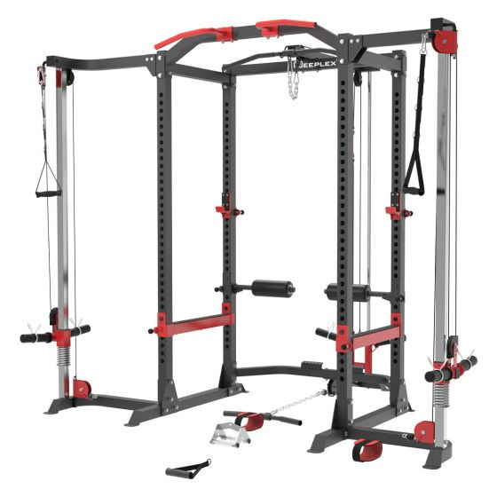 Reeplex Power Cage + Lat Pulldown + Cable Crossover Attachment